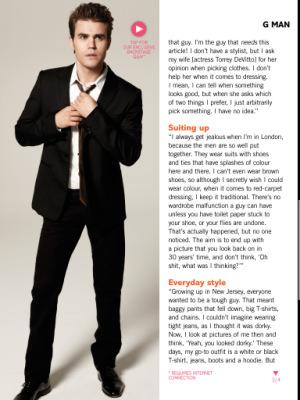 Пол для журнала Glamour [апрель 2013]