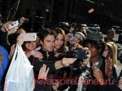 Йен с фанатами в Нью-Йорке [13 марта]