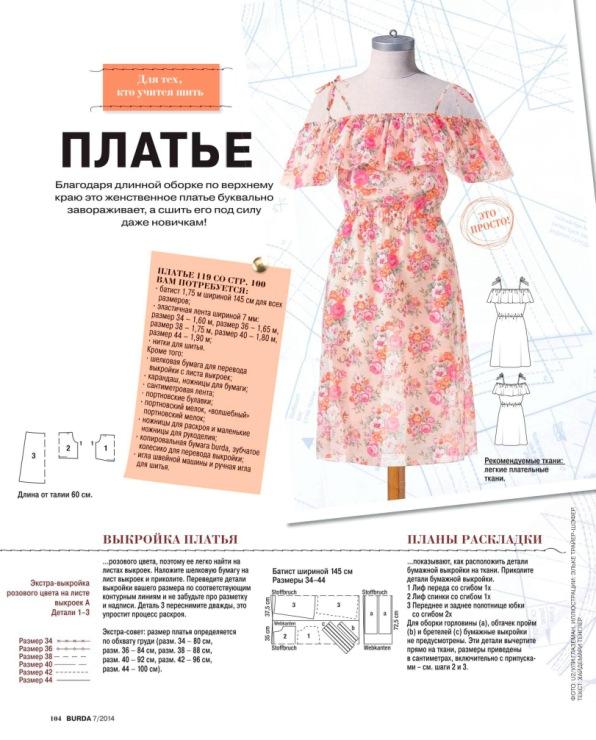 Бурда платья и выкройки