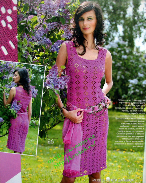 Дайджест: вязаные летние сарафаны для женщин - вязание крючком на