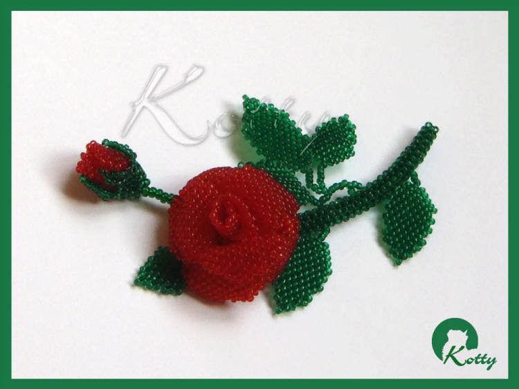 роза от мъниста