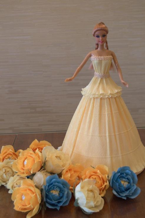 Кукла из конфет своими руками пошаговые фото