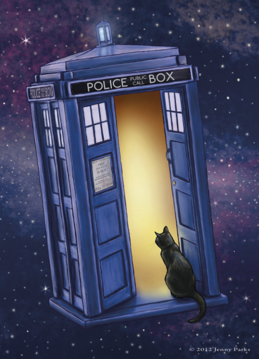 Cat and Doctor Who