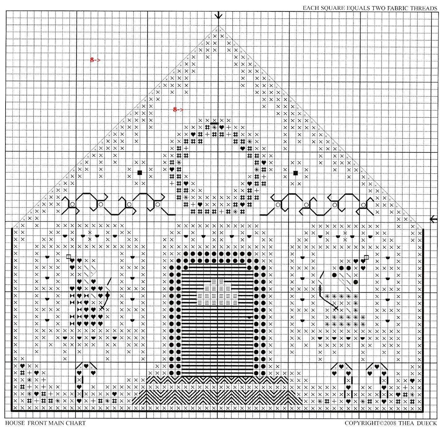 Вышивка пряничный домик схема 81