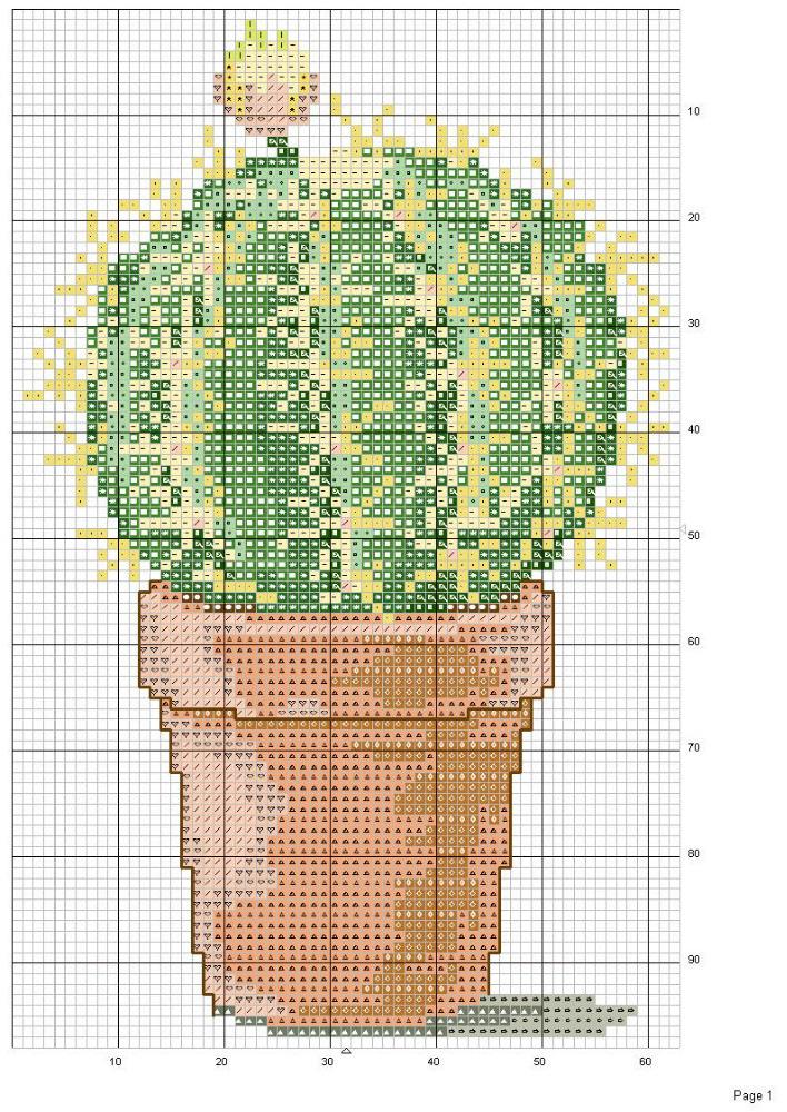 Схемы вышивки с кактусами 103