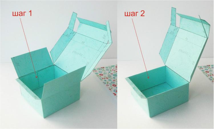 Как сделать картонную коробку с крышкой видео