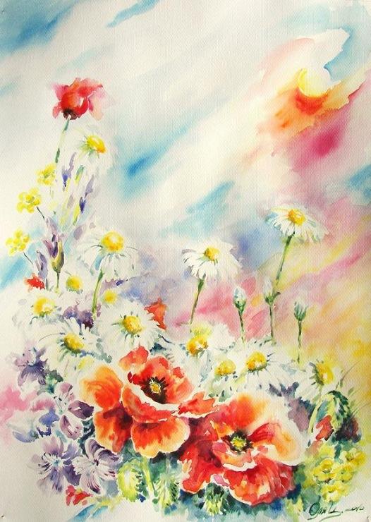 Gallery.ru / Фото #48 - Поглядите, там и тут, маки красные цветут! . - Anneta2012