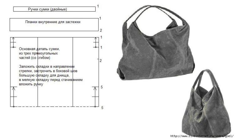 Как сшить сумку из кожи своими руками через плечо