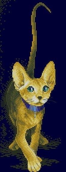 Египетская кошка схема вышивки крестом 68