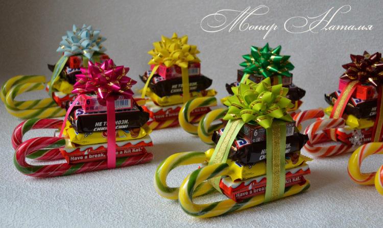 Поделки из конфет своими руками на новый год фото