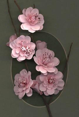 Цветы на стенах своими руками из бумаги