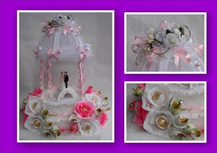 Сладкий букет из конфет своими руками на свадьбу 99