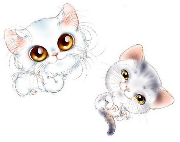 Милашки животные нарисованные pipetoka