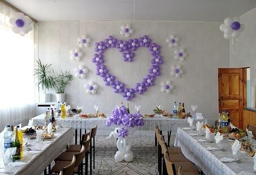 Украшения зала на свадьбу шарами своими руками