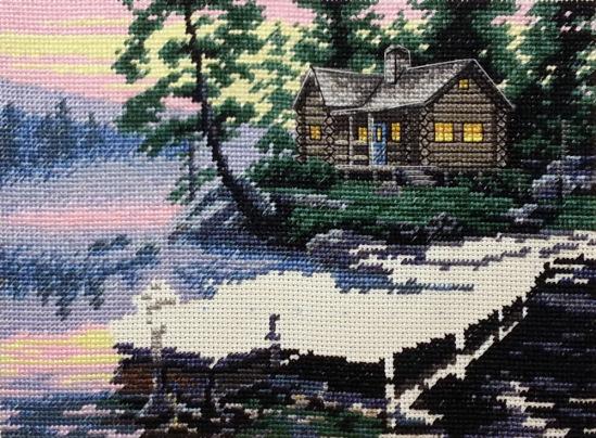 Схема вышивки утро на озере 97