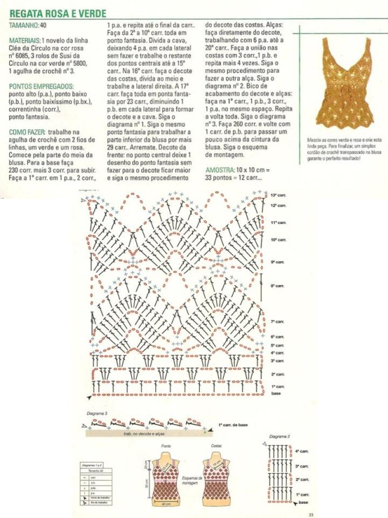 29 июл 2014 Рубрика: Вязание крючком для женщин Топы Метки: вязание топа вязаный топ крючком схема узора ирландский