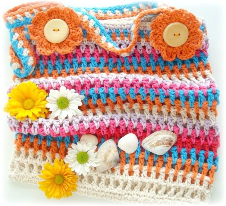 Изображение пляжная вязаная сумка из коллекции вязаные пляжные сумки на сайте Пинми.ру. вязаные пляжные сумки